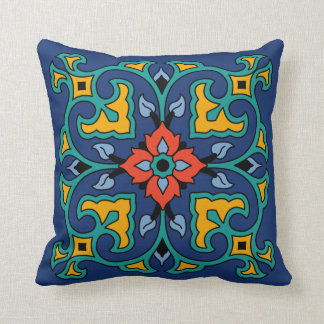 Vintage Catalina Island Tile Design Throw Pillow