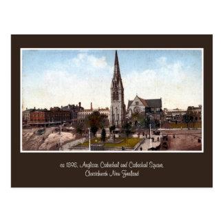 vintage cathedral, square Christchurch NZ Postcard