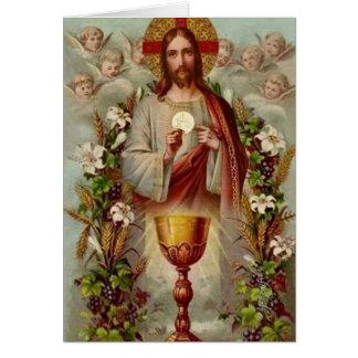Vintage Catholic Mass Offering Card
