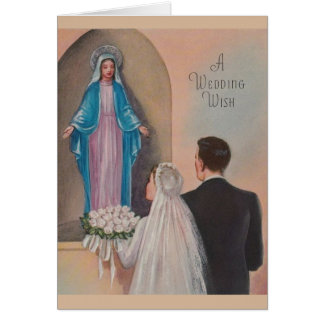 Vintage Catholic Wedding Greeting Card