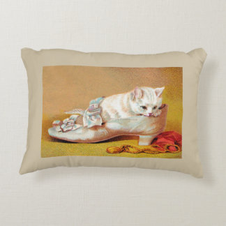 Vintage Cats and Shoes Accent Pillow