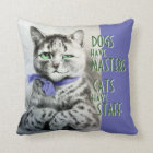 Vintage Cats Have Staff Wain Art Quote Throw Pillow