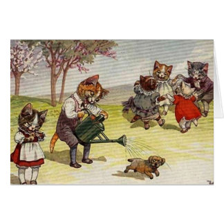 Vintage - Cats on the Playground, Card