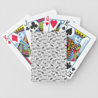 Vintage Cats Pattern Bicycle Playing Cards