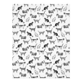 Vintage Cats Pattern Custom Letterhead