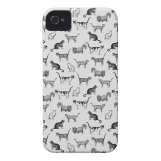 Vintage Cats Pattern iPhone 4 Cases