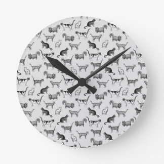 Vintage Cats Pattern Wall Clocks