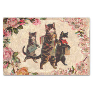 Vintage Cats Pretty Antique Kitty Tissue Paper