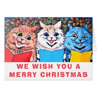 Vintage Cats Singing Christmas Carols #holidayz Card