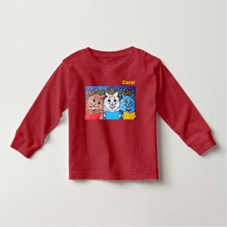 Vintage Cats Singing Christmas Carols #holidayz Toddler T-shirt