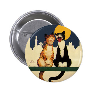 Vintage Cats Singing, Funny and Silly Animals 2 Inch Round Button