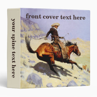 Vintage Cavalry Military, The Cowboy by Remington 3 Ring Binders
