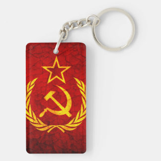 Vintage CCCP flag Double-Sided Rectangular Acrylic Keychain