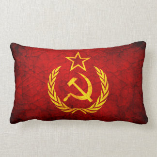 Vintage CCCP flag Lumbar Pillow