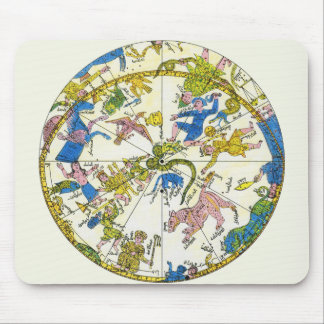 Vintage Celestial, Antique Constellation Stars Map Mouse Pad