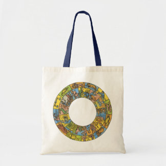 Vintage Celestial, Astrological Zodiac Wheel Tote Bag