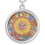 Vintage Celestial Astrology, Antique Zodiac Wheel Custom Necklace