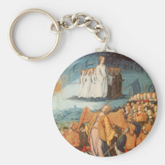 Vintage Celestial Astronomy, Power of the Heaven Basic Round Button Keychain