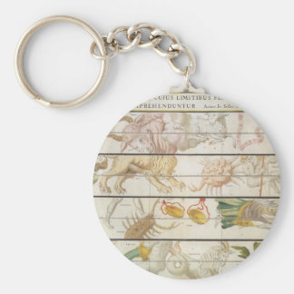 Vintage Celestial Map, Astronomy by John Seller Basic Round Button Keychain