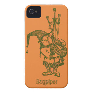 Vintage celtic troll trow bagpiper bagpipe player Case-Mate iPhone 4 cases