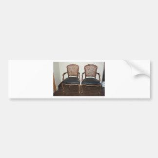 Vintage chairs bumper sticker