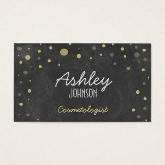 Vintage Chalkboard Art Glitter Business Card