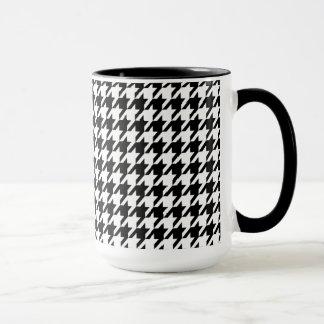 Vintage Chalkboard Black Houndstooth Mug