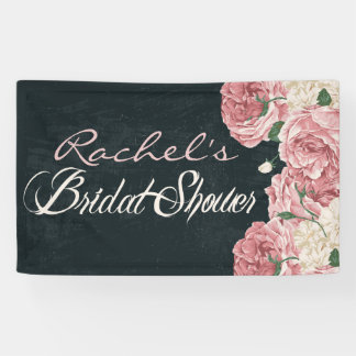 Vintage, Chalkboard Bridal Shower Banner