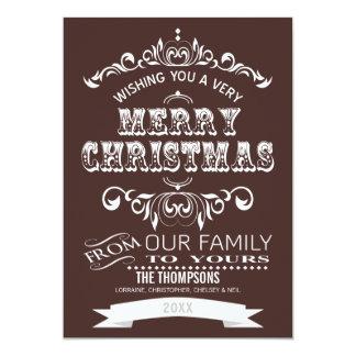 Vintage Chalkboard Christmas Greeting Card-cocoa Card