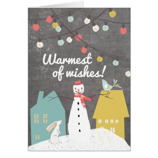 Vintage Chalkboard Christmas Holidays Personalized Card