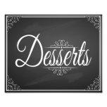 vintage chalkboard dessert sign for wedding art photo