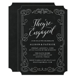 Vintage Chalkboard | Engagement Party Invitation