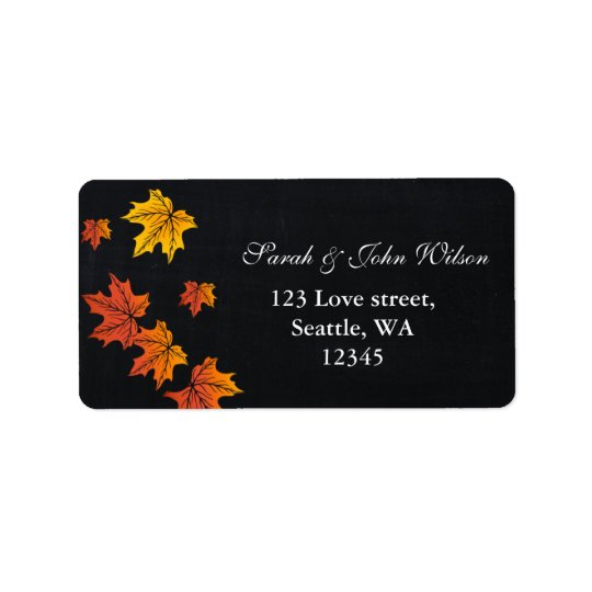 Vintage Chalkboard fall address label