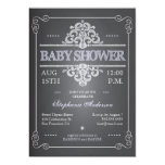 Vintage Chalkboard Girl Baby Shower Invitation