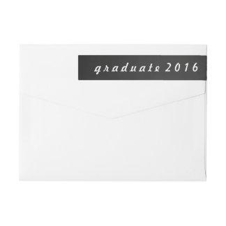 Vintage Chalkboard Graduate 2016 Script Wrap Around Label