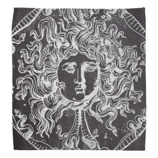 vintage chalkboard Greek mythology Gorgon medusa Bandana