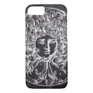 vintage chalkboard Greek mythology Gorgon medusa Case-Mate iPhone Case