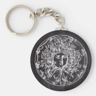 vintage chalkboard Greek mythology Gorgon medusa Keychain