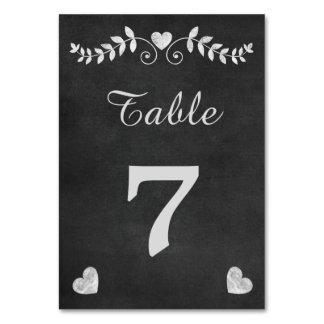 Vintage Chalkboard Heart Wedding Card