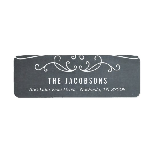 Vintage Chalkboard Holiday Return Address Labels