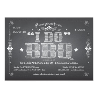 Vintage Chalkboard I Do BBQ Shower Invitation