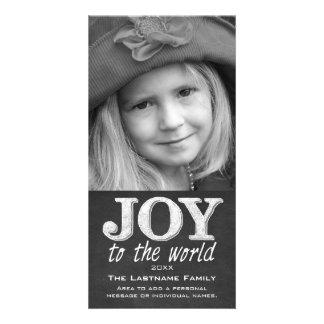 Vintage Chalkboard - Joy to the World Photo Cards
