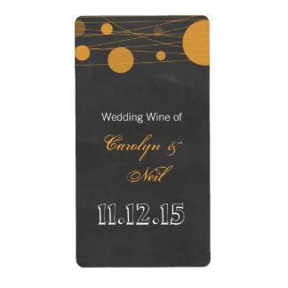 Vintage Chalkboard Lantern Wedding Wine Shipping Label