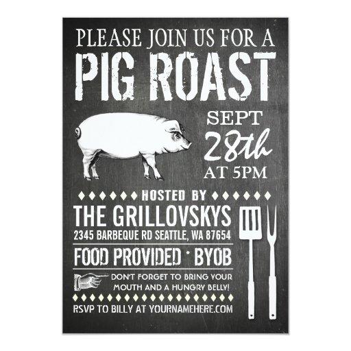 pig roast invites 204 pig roast invitation templates. Black Bedroom Furniture Sets. Home Design Ideas