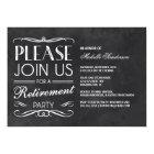 Vintage Chalkboard Retirement Party Card
