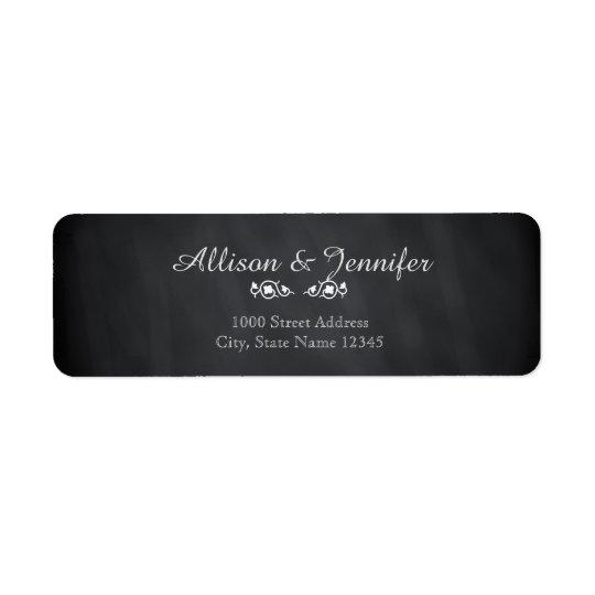 Vintage Chalkboard Return Address Return Address Label