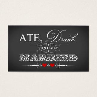 Vintage Chalkboard Style Wedding Favor Tag - Red