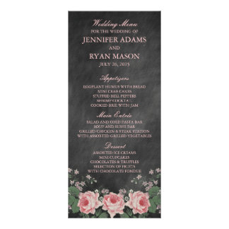 VINTAGE CHALKBOARD | WEDDING MENU CUSTOM RACK CARD