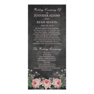 Vintage Chalkboard Wedding Program Rack Cards