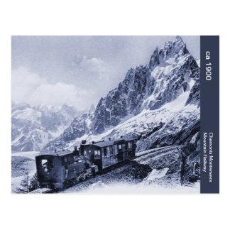 vintage Chamonix Mont Blanc Mountain Railway Postcard